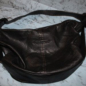 COLE HAAN Soft Black Pebbled Leather Purse